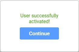 Continueボタン